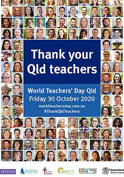 World Teachers' Day_A4 Poster Blue Recta
