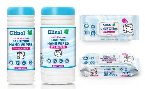Clinol 75% Alcohol wipes