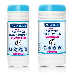 Instafresh Sanitizing Hand Wipes 75% Alcohol