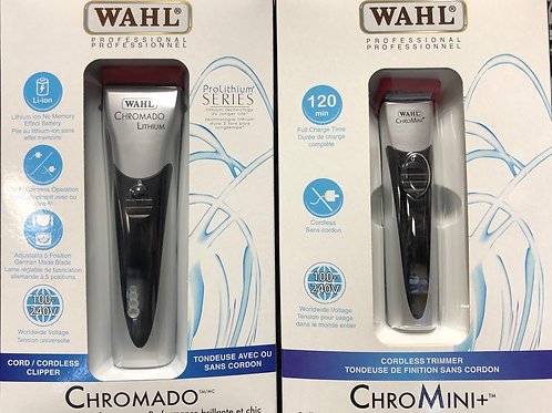 Wahl Chromado / ChroMini Lithium Ion Cordless Clipper/Trimmer Combo