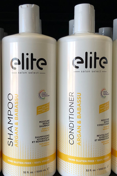 Elite Argan & Babassu Shampoo/ Conditioner Litre Duo