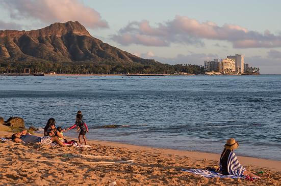 Waikiki Beach overlooking Diamond Head