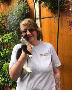 Julia volunteer at Birmingham cat rescue