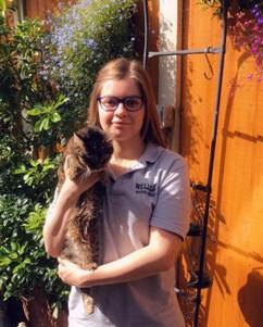Sarah volunteer at Birmingham cat rescue
