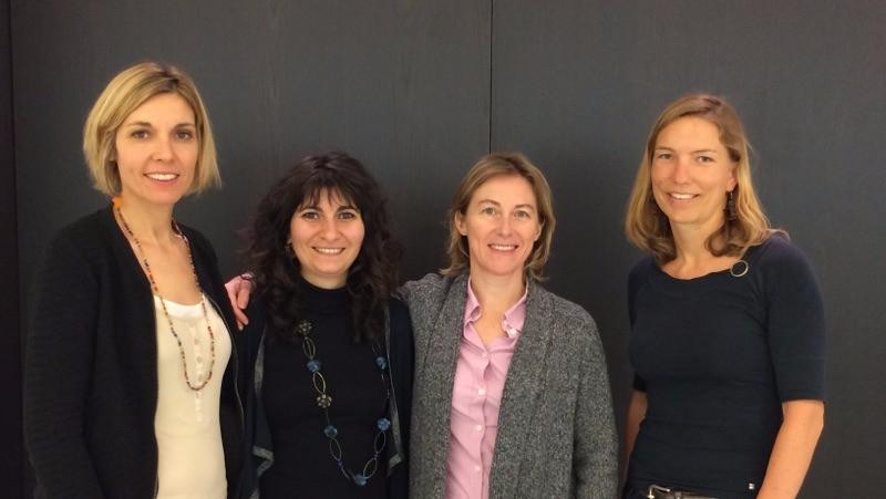 Sur la photo de Gauche à droite : Maryline Lorenzo, Ioulia Couvaras, Alix Sonolet, Cécile Boulanger