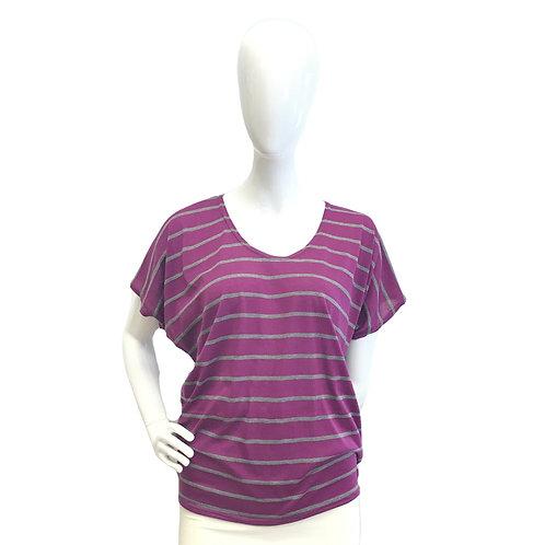 Striped Raspberry Casual Top