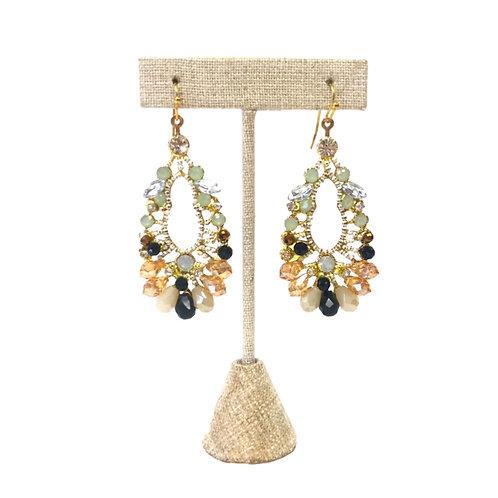 Art Nouveau Petal Earrings
