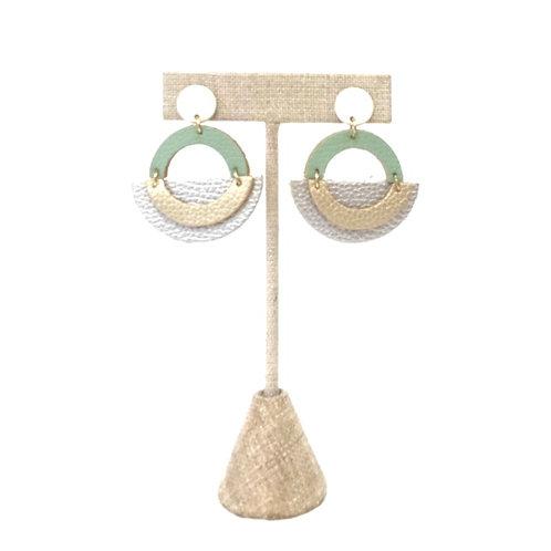 Geometric Circular Earrings