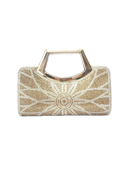 Gold Art Deco Sun Clutch