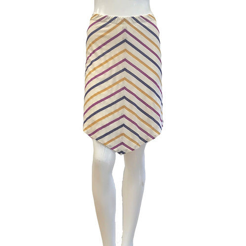 Bias Stripe Skirt