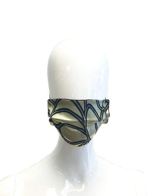 Gold and Black Leaf Face Mask