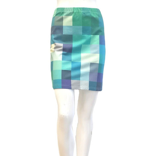 Paint Squares Mini Skirt