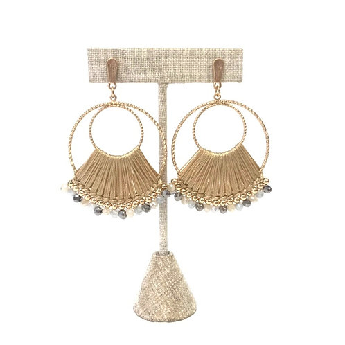 Gold Threaded Hoop Earrings