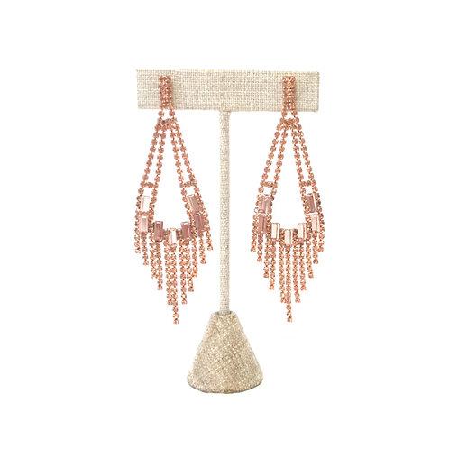 Rose Gold Chandelier Earrings