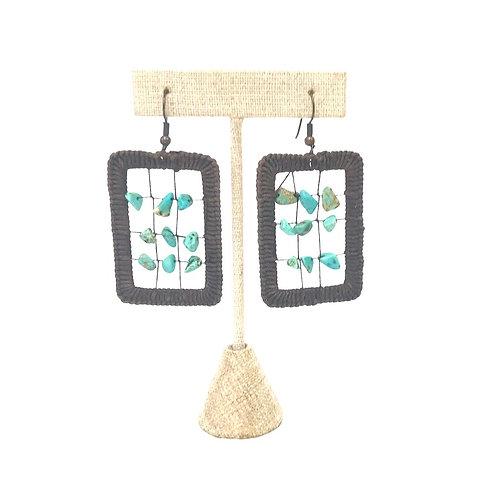 Turquoise Grid Earrings
