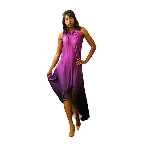 Violet to Charcoal Ombré Dress
