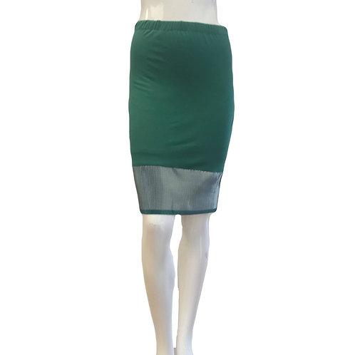 Silver Foil Hem Skirt