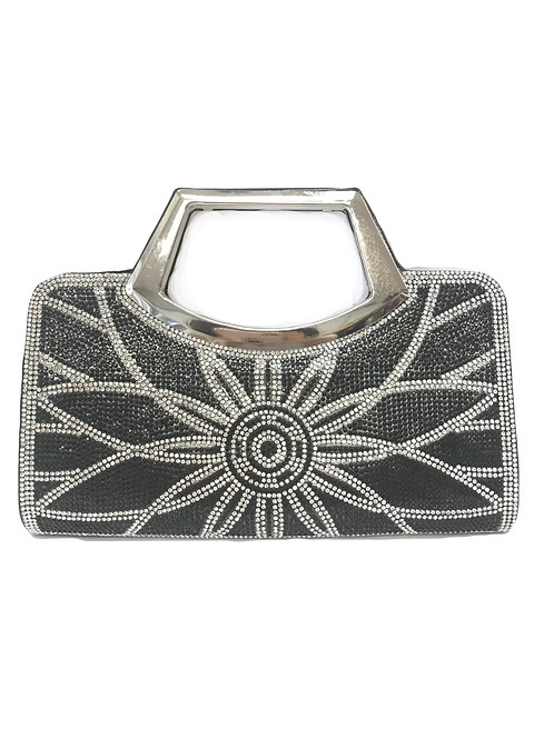 Black Art Deco Sun Clutch