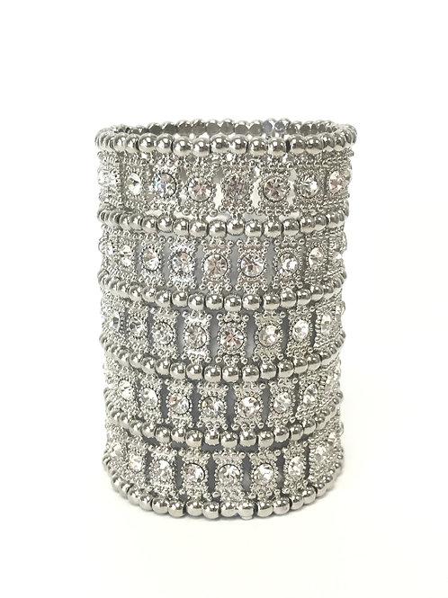 Silver Rhinestone Cuff