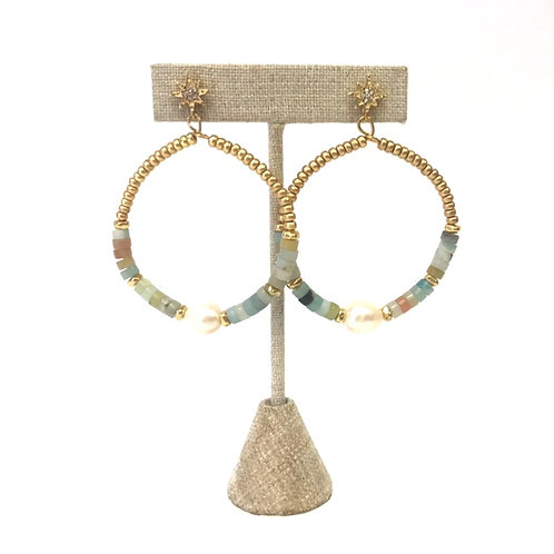 Stone Beaded Earrings