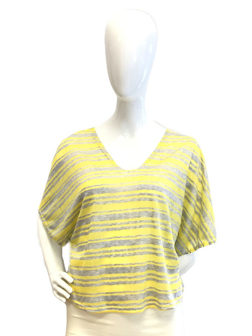 Yellow Slouchy V-neck Top