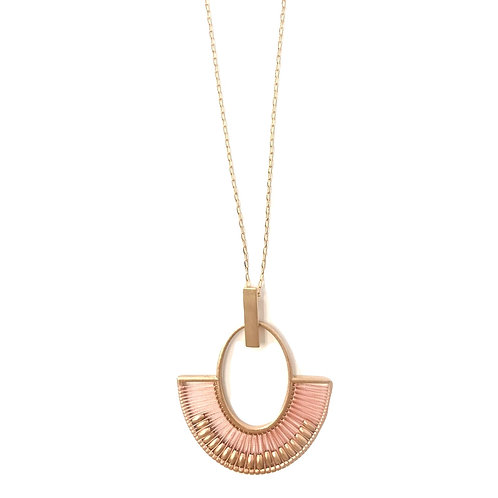Rose Gold Cleopatra-style Pendant Necklace