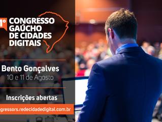 ABERTAS INSCRIÇÕES PARA O 1º CONGRESSO GAÚCHO DE CIDADES DIGITAIS