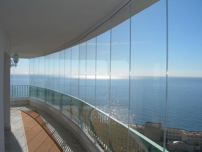 glass curtains marbella, premierglass curtains costa del sol, costa del sol