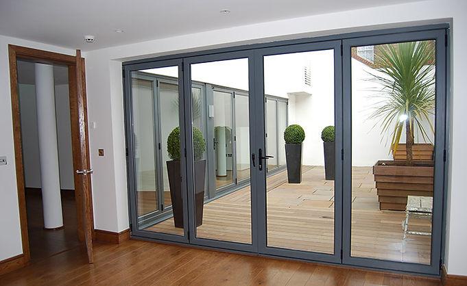 bi-fold doors upvc aluminum spain