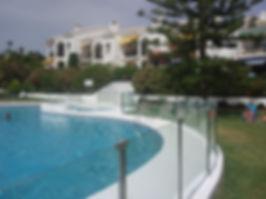 pool surrond glass estopona costa del sol