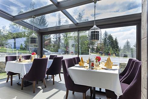 Restaurant Glass Curtains. Glass Terrace. Glass Balcony.
