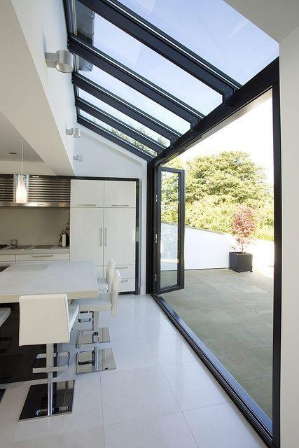 Semi Glass Roof and Bi-Fold Doors