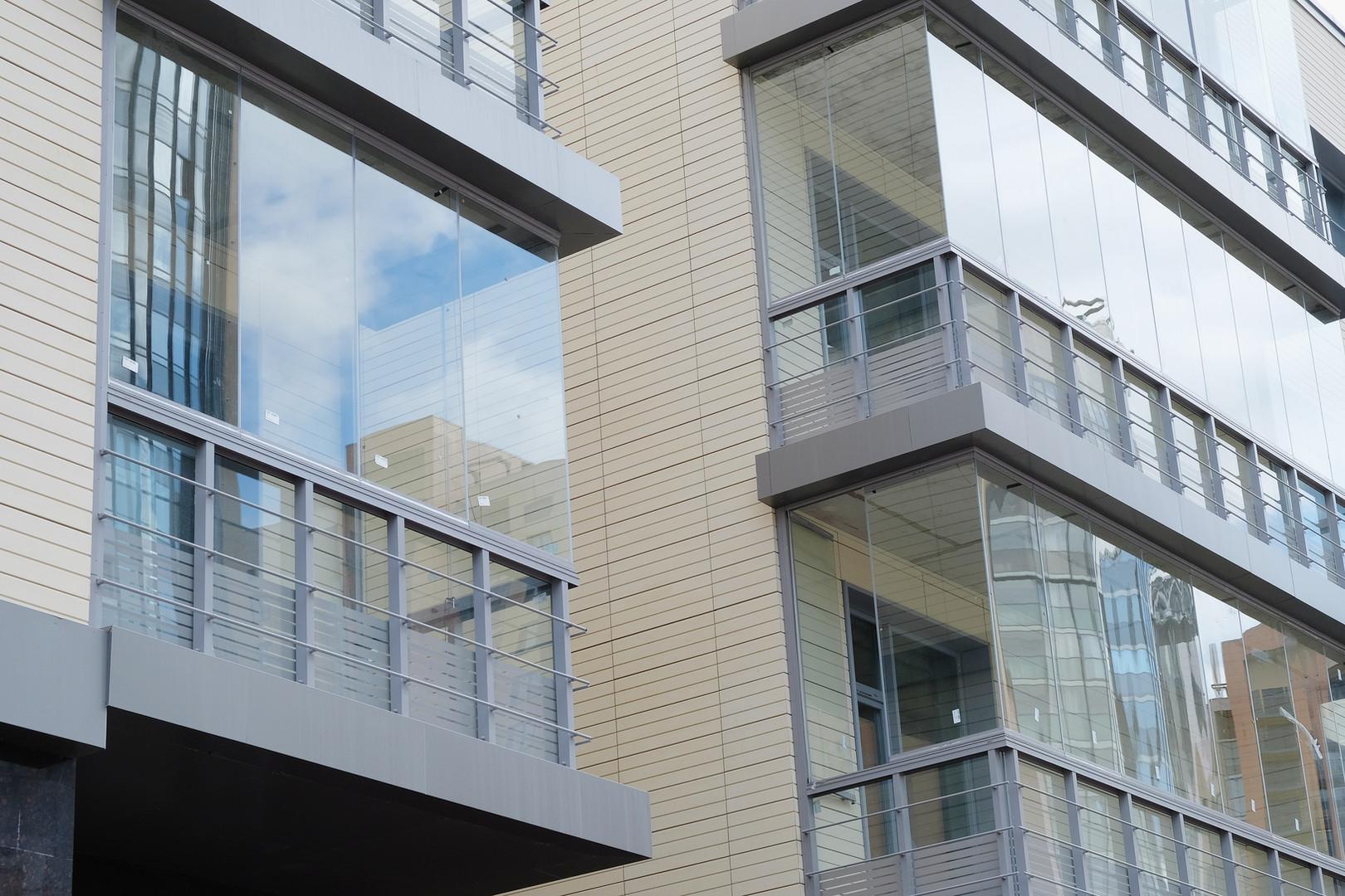 Balcony Glass Curtains