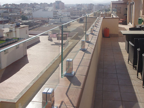 glass balustrades to wall costa del sol . Spain