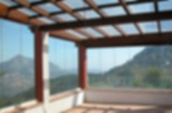 glass roof and glass curtains costa del sol