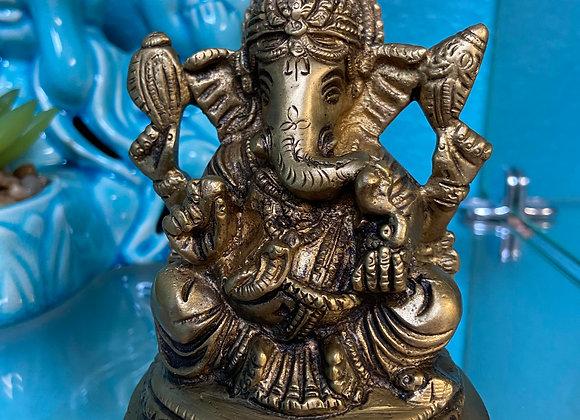 brass statue solid ganesh