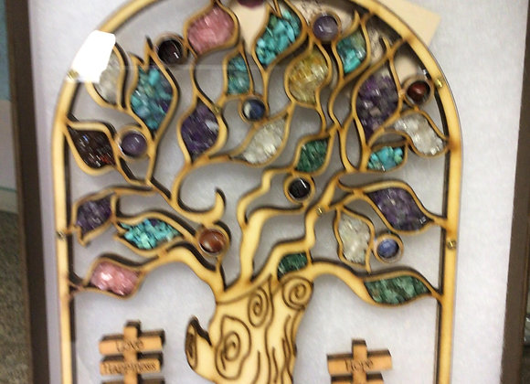 HANDCRAFTED IN THE HOLY LAND TREE OF LIFE OLIVE WOOD AND NATURAL STONES