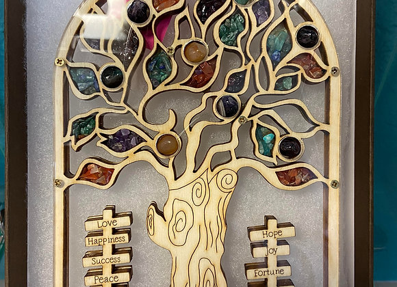 Tree of Life Handcrafted Wall Plaque with Multi-Stones