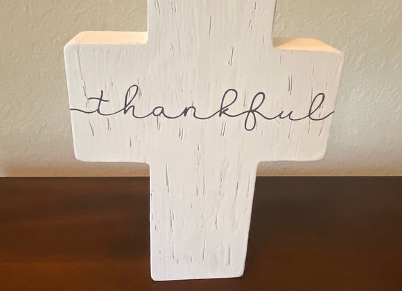 Handmade Wooden Cross ThankFul