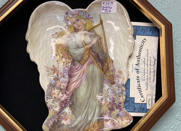 ANGEL COLLECTIBLE PLATE WITH AUTHENTIC PAPERS