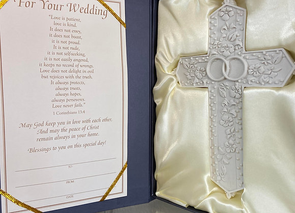 handcrafted wedding cross and