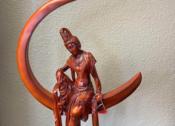 hand carved wood thai buddha