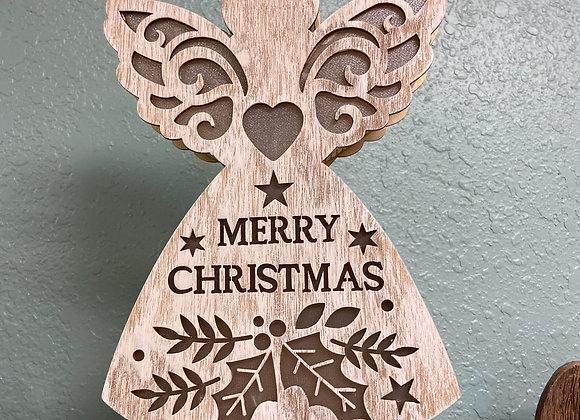 christmas wood angel