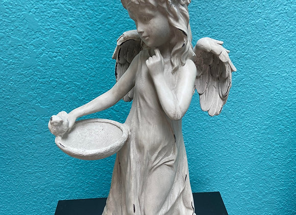 ANGEL INDOOR OR OUTDOOR W BIRD FEEDER 19 INCHES HIGH