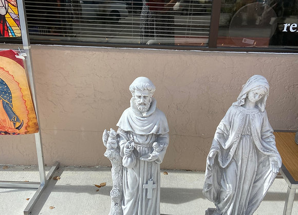 INDOOR/OUTDOOR STATUES ST FRANCIS OR MARY