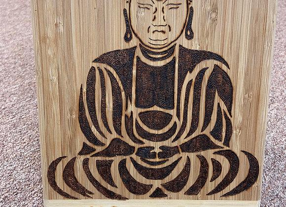 Wood Burned Handmade Nameste Cutting board