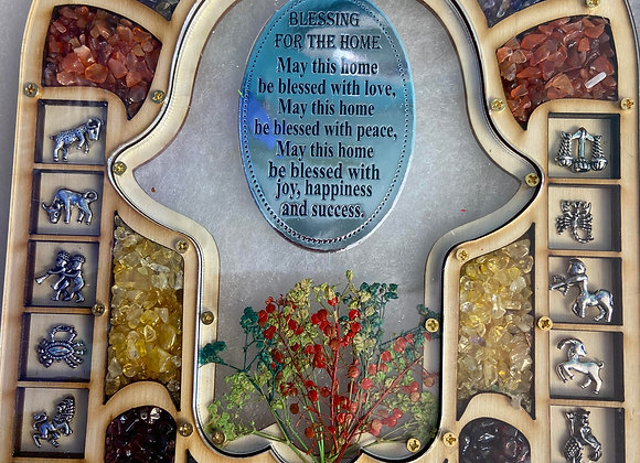 home blessing handcrafted in the holy land  olive wood and natural stones