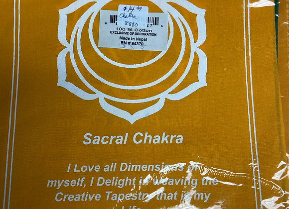 Seven Chakra Prayer Flags from Nepal