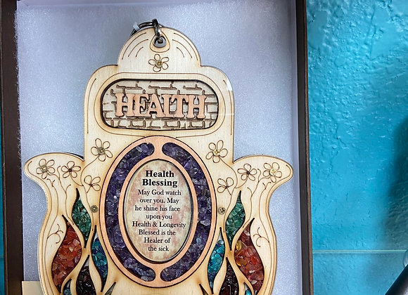 hamsa health blessing handcrafted and blessed from holy land olive wood and na