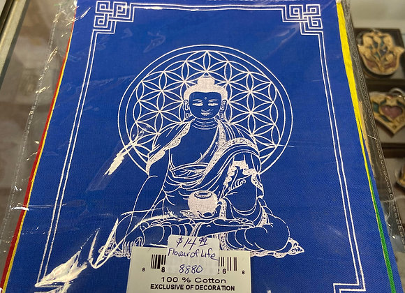 Prayer Flags - Sacred Flower of Life from Nepal 100% COTTON-